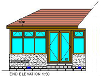 Sunroom Project - Rear Elevation - Aberdeen, Scotland