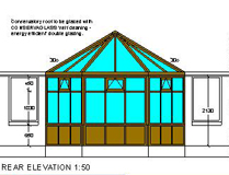 Conservatory Project - Rear Elevation Plan - Alford, Scotland