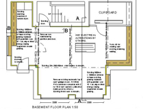 Garage Conversion Project - Floor Plan - Aberdeen, Scotland