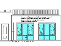Garage Conversion Project - Rear Elevation - Aberdeen, Scotland