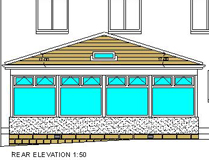 Sunroom Project - Rear Elevation - Elrick, Scotland