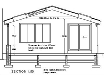 Sunroom Project - Section Plan - Elrick, Scotland